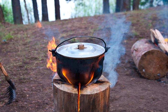 костер финская свеча